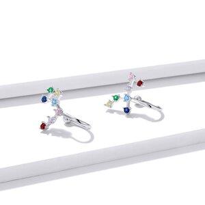 Cercei din argint Rainbow Stones Ear Clip