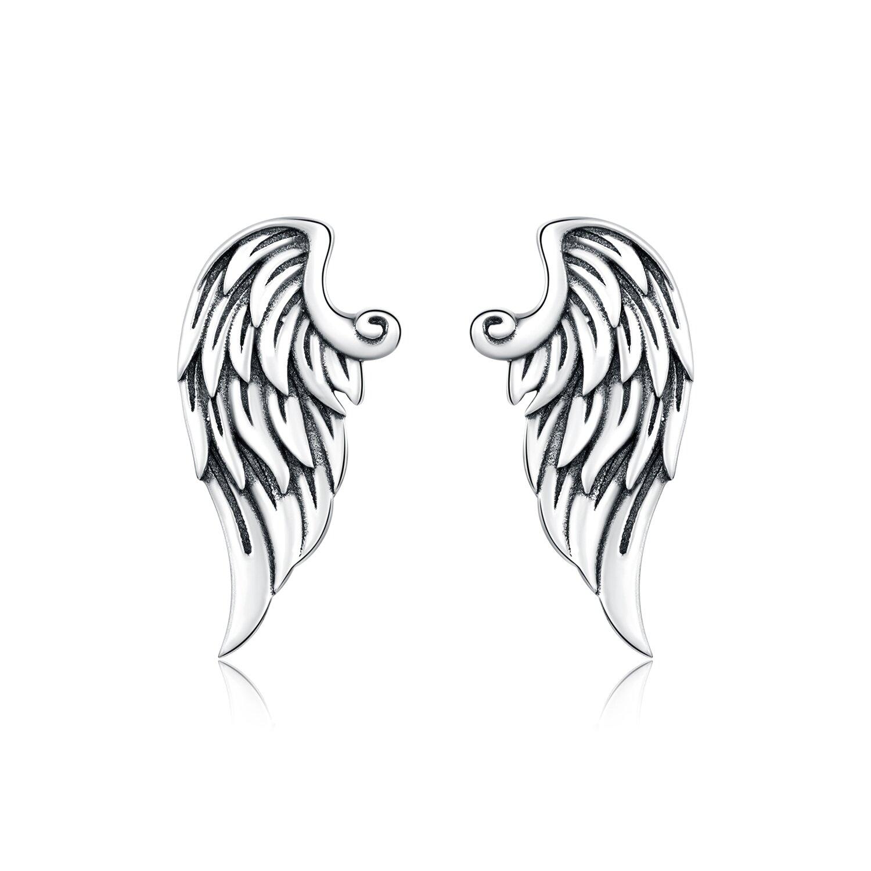 Cercei din argint Retro Wings poza 2021