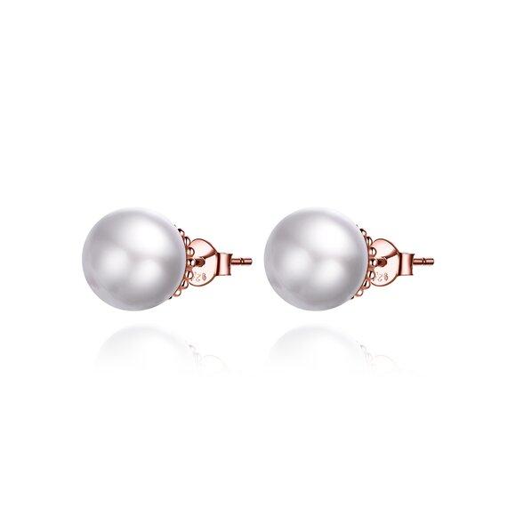 Cercei din argint Rose Gold Dream Pearls