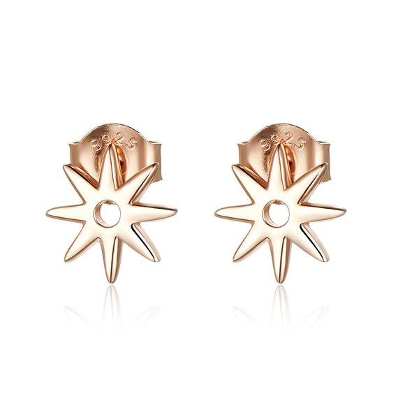 Cercei din argint Rose Gold Little Stars