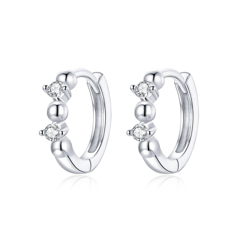 cercei din argint rounds crystals hoops 87433 4