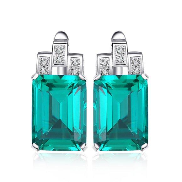 Cercei din argint Royal Emerald