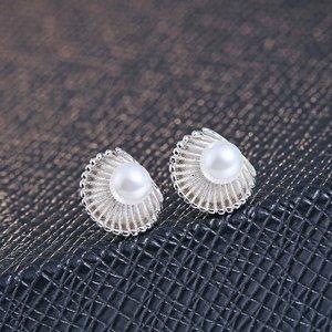 Cercei din argint Shell Pearls