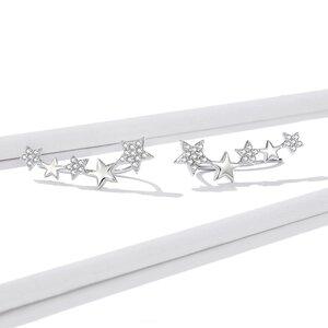 Cercei din argint Shiny Stud Star