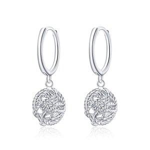 Cercei din argint Silver Ball Hoops