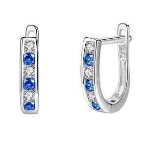 Cercei din argint Silver Blue Crystal