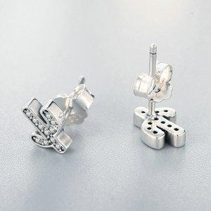 Cercei din argint Silver Cactus