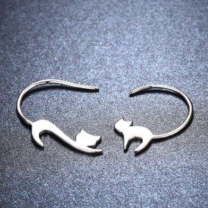 Cercei din argint Silver Cats