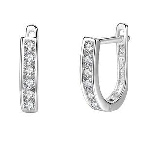 Cercei din argint Silver Crystal Band