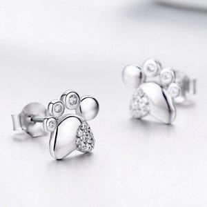 Cercei din argint Silver Footprint