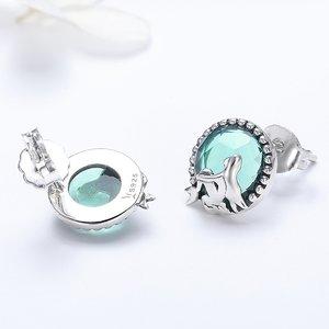 Cercei din argint Silver Glass Mermaids