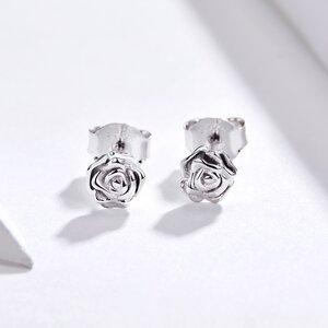 Cercei din argint Silver Roses