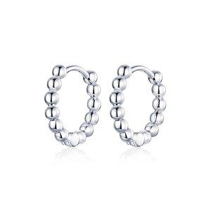 Cercei din argint Silver Rounds Hoops