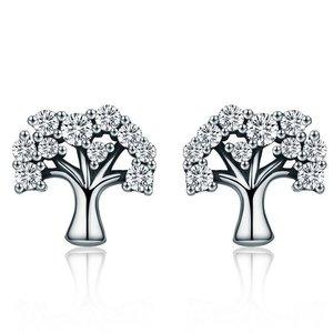 Cercei din argint Silver Tree