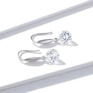 Cercei din argint Simple Crystals