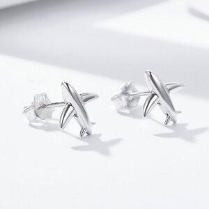 Cercei din argint Simple Planes