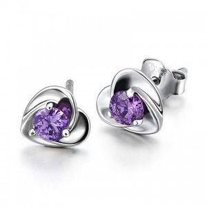 Cercei din argint Simple Sapphire