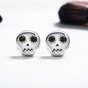 Cercei din argint Skull Studs