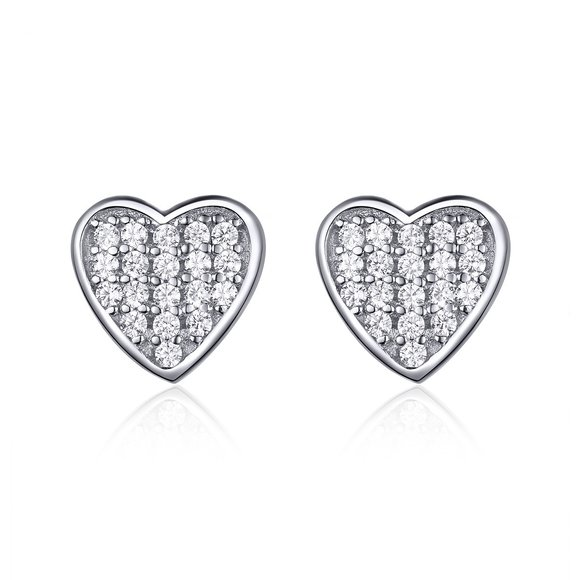 Cercei din argint Small Hearts