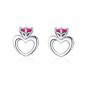 Cercei din argint Small Hearts Earrings