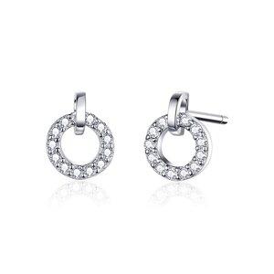 Cercei din argint Small Shiny Circles