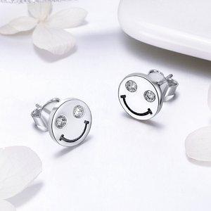 Cercei din argint Smiley Face