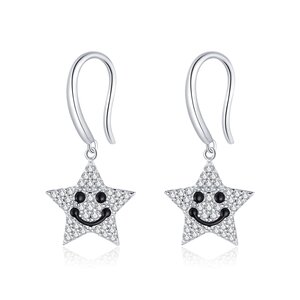 Cercei din argint Smiling Stars