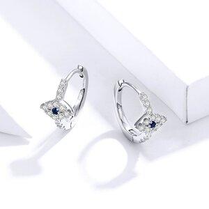 Cercei din argint Sparkling Blue Eye Hoops