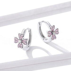 Cercei din argint Sparkling Cherry Blossom