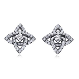 Cercei din argint Sparkling Star