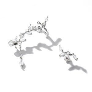 Cercei din argint Sparkling Thorns