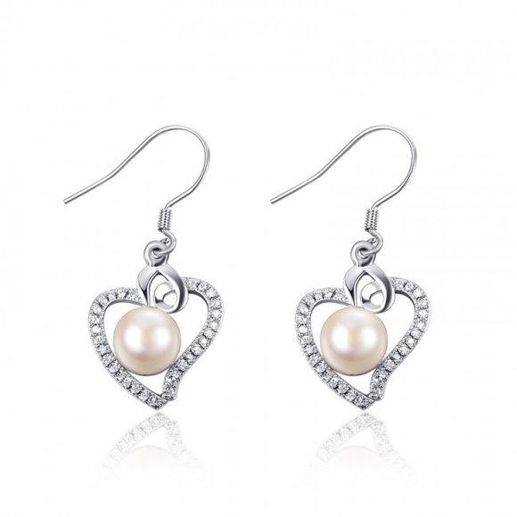 Cercei din argint Spring Pearls