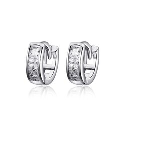 Cercei din argint Square Crystals Hoops