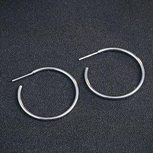 Cercei din argint Stylish Silver Circle