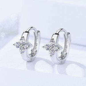 Cercei din argint Sweet Crystal Hoops
