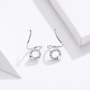 Cercei din argint Swirl Silver Star