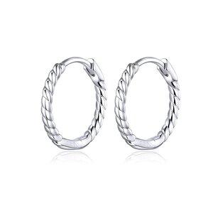 Cercei din argint Swirl Small Hoops