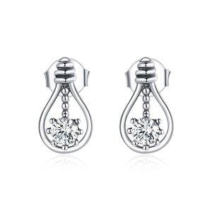 Cercei din argint Tear Drop Crystal