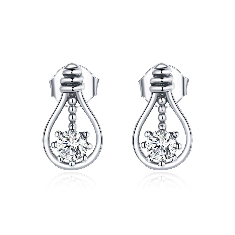 cercei din argint tear drop crystal 87466 4