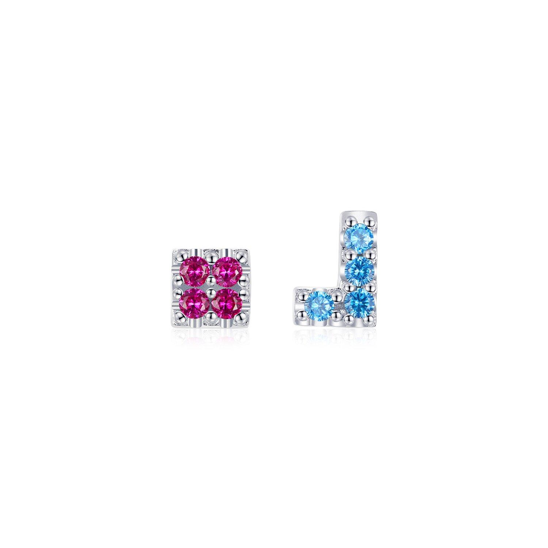 Cercei din argint Tetris Stones poza 2021