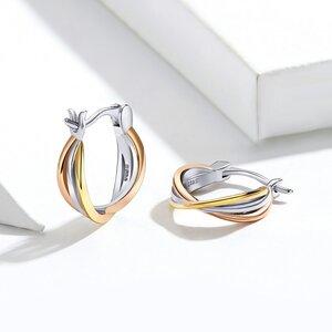 Cercei din argint Trio Color Lines