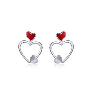 Cercei din argint Trio Hearts