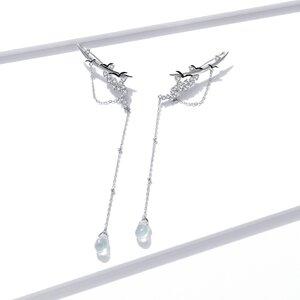 Cercei din argint Unique Shining Birds