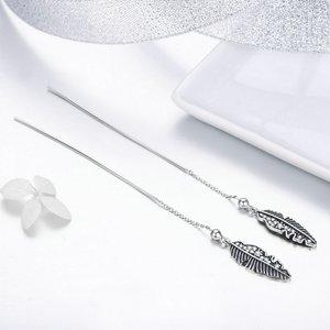 Cercei din argint Vintage Feather