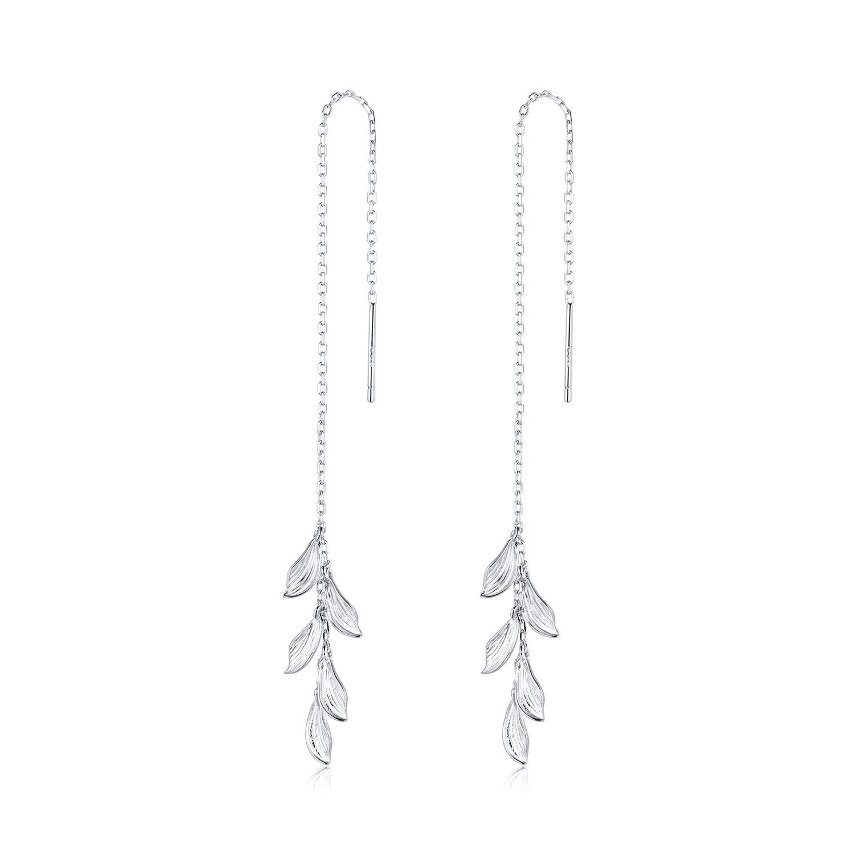 cercei din argint vintage long leafs 88306 4