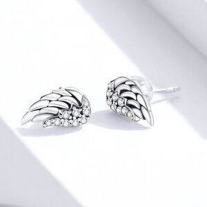 Cercei din argint Vintage Shiny Wings