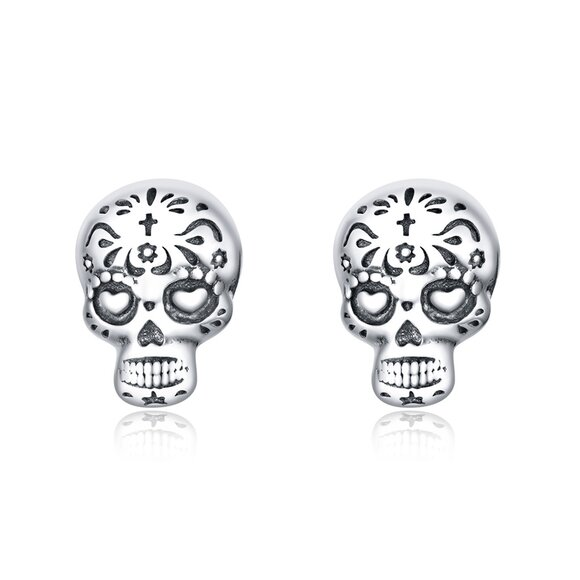Cercei din argint Vintage Skulls