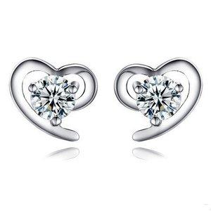 Cercei din argint So White Heart