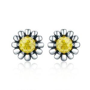 Cercei din argint Yellow Daisy