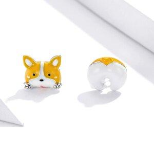 Cercei din argint Yellow Puppy